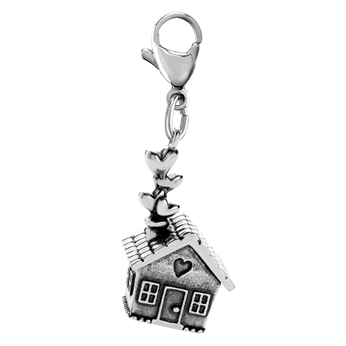 DG4081 Silver  Home Sweet Home  Dangle FRONT